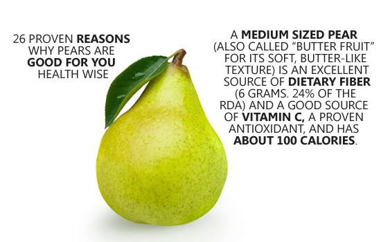 single pear benefits
