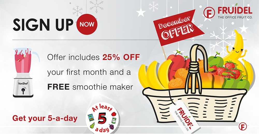 December Offer | Fruidel: Office Fruit & Milk Delivery UK Wide