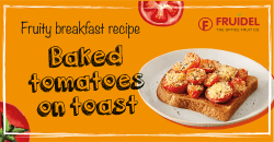 Baked tomatoes on toast - Office Fruit Delivery